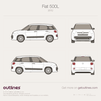 2007 Fiat 500L 5-door Hatchback blueprint