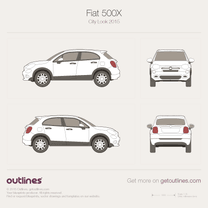 2015 Fiat 500 X City Look Wagon blueprint