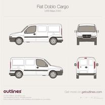 2001 Fiat Doblo Cargo LWB Maxi XL Van blueprint