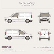 2005 Fiat Doblo Cargo Maxi LWB XL Facelift Van blueprint