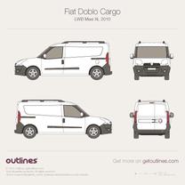 2009 Fiat Doblo Cargo LWB Maxi XL Van blueprint