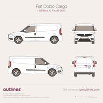 2015 Fiat Doblo Cargo Maxi LWB XL Facelift Van blueprint