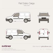 2001 Fiat Doblo Cargo SWB Van blueprint
