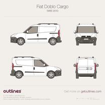 2009 Fiat Doblo Cargo SWB Van blueprint