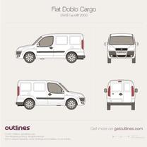 2005 Fiat Doblo Cargo SWB Facelift Van blueprint