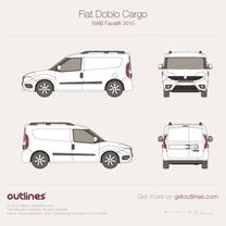 2015 Fiat Doblo Cargo SWB Facelift Van blueprint