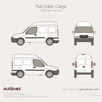 2001 Fiat Doblo Cargo SWB High Roof Van blueprint