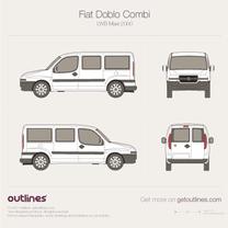 2001 Fiat Doblo Combi LWB Maxi XL Wagon blueprint
