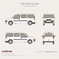2005 Fiat Doblo Combi Maxi LWB XL Facelift Wagon blueprint