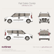 Fiat Doblo blueprint