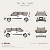 2009 Fiat Doblo Combi LWB Maxi XL Wagon blueprint