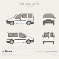 2001 Fiat Doblo Panorama SWB Minivan blueprint