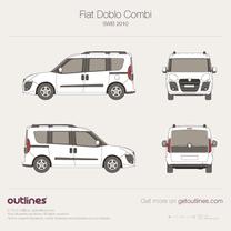 2010 Fiat Doblo Panorama SWB Minivan blueprint