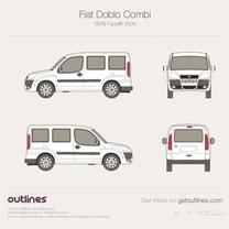 2005 Fiat Doblo Panorama SWB Facelift Minivan blueprint