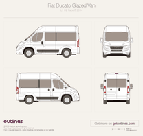 2014 Fiat Ducato Glazed Van L1 H2 Facelift Wagon blueprint