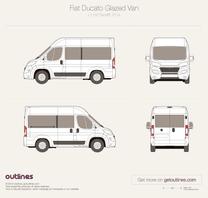 2014 Fiat Ducato Glazed Van L1 H2 Facelift Wagon blueprint