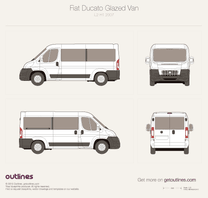 2007 Fiat Ducato Glazed Van L2 H1 Wagon blueprint
