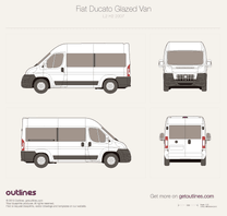 2007 Fiat Ducato Glazed Van L2 H2 Wagon blueprint