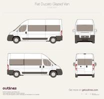 2007 Fiat Ducato Glazed Van L3 H3 Wagon blueprint