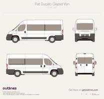 2007 Fiat Ducato Minibus L4 H2 Bus blueprint