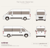 2014 Fiat Ducato Glazed Van L4 H2 XL Facelift Wagon blueprint