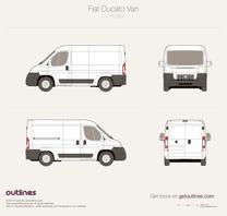 2007 Fiat Ducato Van L1 H1 Wagon blueprint