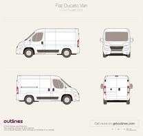 2014 Fiat Ducato Van L1 H1 Facelift Wagon blueprint
