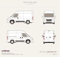 2014 Fiat Ducato Van L1 H2 Facelift Wagon blueprint