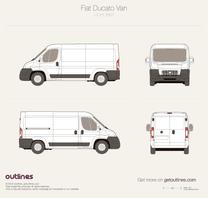 2007 Fiat Ducato Van L2 H1 Van blueprint