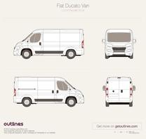 2014 Fiat Ducato Van L2 H1 Facelift Van blueprint
