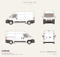 2007 Fiat Ducato Van L2 H2 Van blueprint