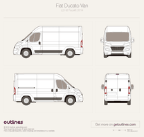 2014 Fiat Ducato Van L2 H2 Facelift Van blueprint