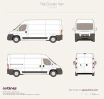2007 Fiat Ducato Van L3 H2 Van blueprint