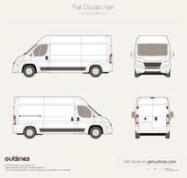 2014 Fiat Ducato Van L3 H2 Facelift Van blueprint