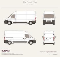 2007 Fiat Ducato Van L3 H3 Van blueprint