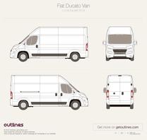 2014 Fiat Ducato Van L3 H3 Facelift Van blueprint