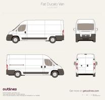 2007 Fiat Ducato Van L4 H2 Maxi Van blueprint