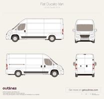 2014 Fiat Ducato Van L4 H2 XL Maxi Facelift Van blueprint