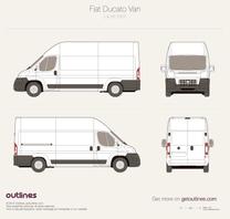 2007 Fiat Ducato Van L4 H3 Maxi Van blueprint