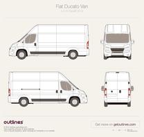 2014 Fiat Ducato Van L4 H3 XL Maxi Facelift Van blueprint