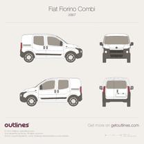 2008 Fiat Fiorino Combi Wagon blueprint