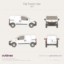 2008 Fiat Fiorino Van Microvan blueprint