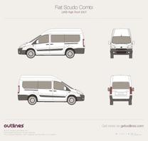 2007 Fiat Scudo Combi LWB High Roof Maxi Wagon blueprint