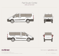 2007 Fiat Scudo Combi LWB Low Roof Wagon blueprint