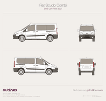 2007 Fiat Scudo Combi SWB Low Roof Wagon blueprint