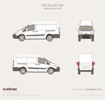 2007 Fiat Scudo Van LWB High Roof Van blueprint