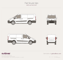2007 Fiat Scudo Van LWB Low Roof Wagon blueprint