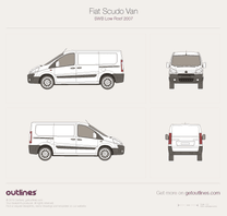 2007 Fiat Scudo Van SWB Low Roof Van blueprint