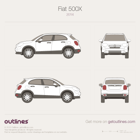 2007 Fiat 500X Wagon blueprint