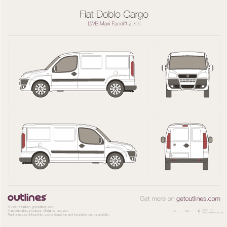 2005 Fiat Doblo Cargo Maxi Van blueprints and drawings